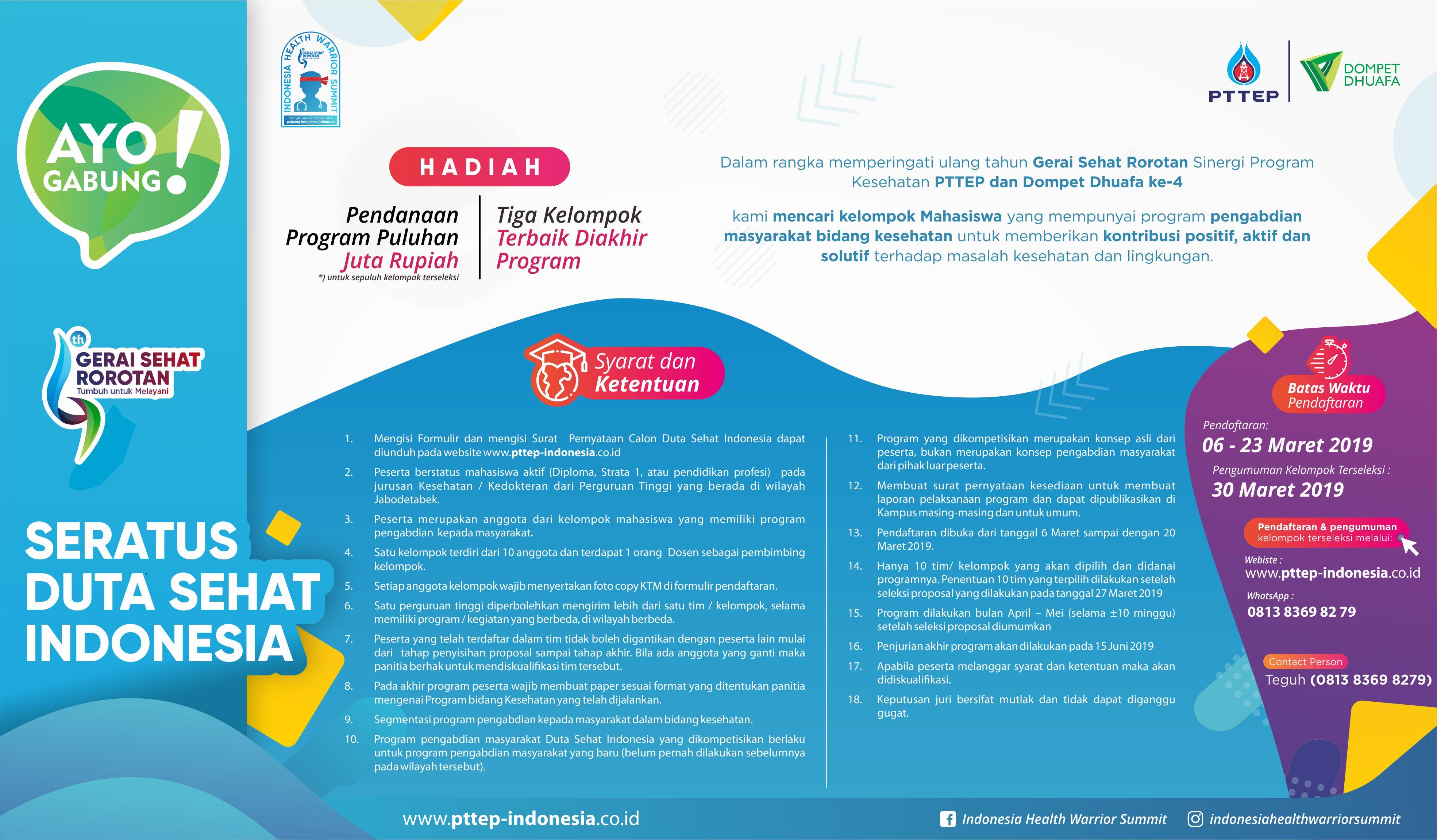 Duta Sehat Indonesia SDG Seminar Indonesia