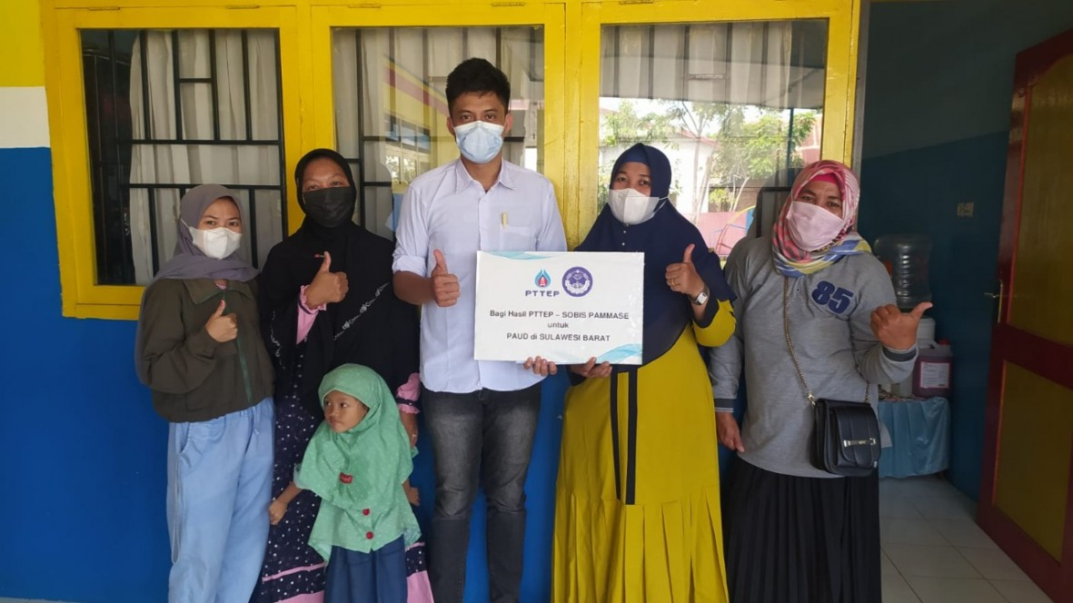 csr kesehatan Sobis Pammase with PTTEP Indonesia Distribute Profit for PAUD Amidst Difficult Times