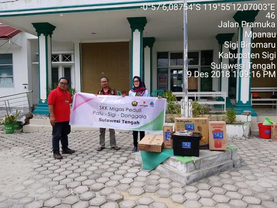 csr kesehatan PTTEP Donates IDR 1,000,000,000 to SKK Migas for Victims of Earthquake and Tsunami in Sulawesi