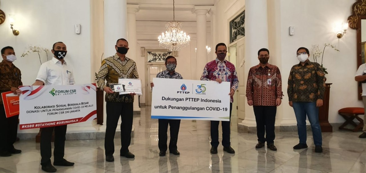 csr kesehatan PTTEP support the Jakarta Provincial Government in mitigating the Covid-19 pandemic